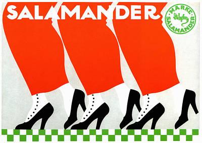 Salamanders Mixed Media - Salamander Shoes by Charlie Ross