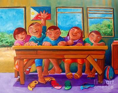 Filipino Painting - Salat Nguni't Sapat by Paul Hilario