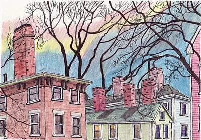Salem Chimnies Print by Paul Meinerth