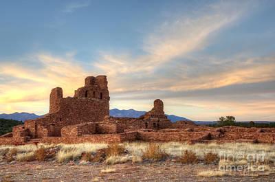 Salinas Pueblo Mission Abo Ruin 4 Print by Bob Christopher