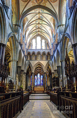 Salisbury Cathedral Print by Juli Scalzi