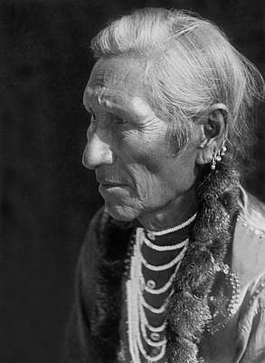 Tribe Photograph - Salish Indian  Circa 1910 by Aged Pixel