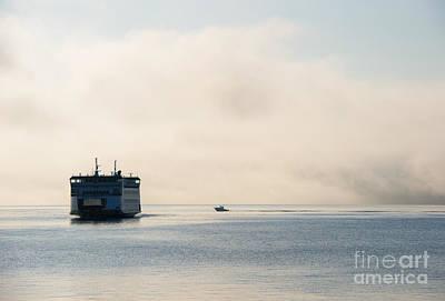 Salish Into The Fog Print by Mike  Dawson