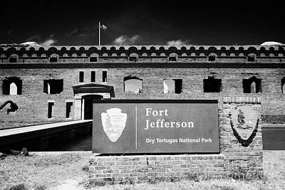 Sally Port Entrance To Fort Jefferson Dry Tortugas National Park Florida Keys Usa Print by Joe Fox