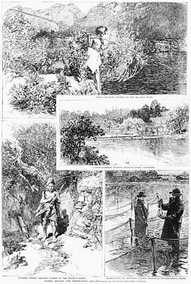 Penobscot Bay Painting - Salmon Fishing, 1888 by Granger