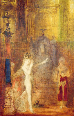 Gustave Painting - Salome Dancing Before Herod by Gustave Moreau