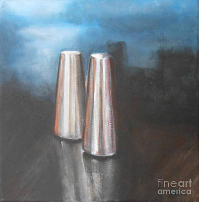 Salt And Pepper Shakers Print by Jane  See