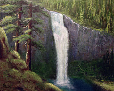 Love Park Mixed Media - Salt Creek Falls by Kenny Henson