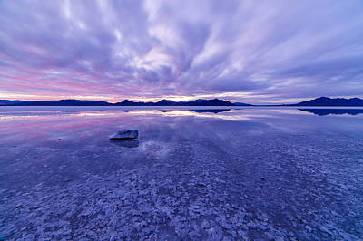 Reflection Photograph - Salt Flats After Dark by Dustin  LeFevre