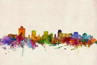 Salt Lake City Skyline Print by Michael Tompsett
