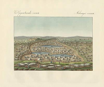 Salt Lakes And Salt Grounds Print by Splendid Art Prints