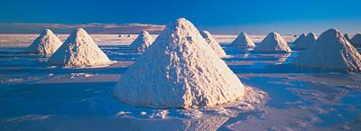 Salt Pyramids On Salt Flat, Salar De Print by Panoramic Images