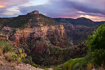 Southwest Desert Photograph - Salt River Purple Sunset by Dave Dilli
