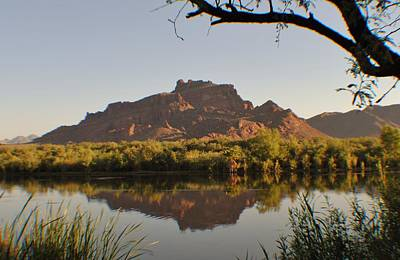Salt River Reflections Print by Edward Curtis
