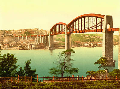 Saltash Bridge Plymouth - England Print by Don Kuing
