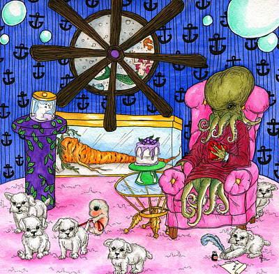 Atlantis Painting - Salty At Home by Julie McDoniel