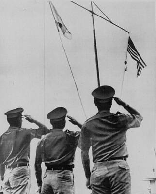 Euphoria Photograph - Saluting Soldiers by Retro Images Archive