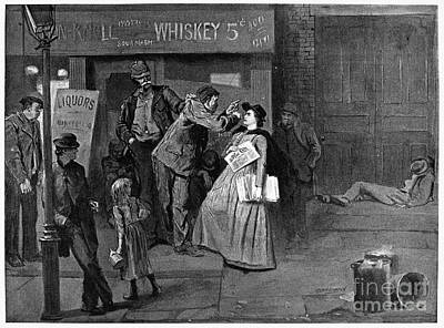 Salvation Army In Slums Print by Granger