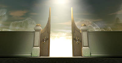 Ethereal Digital Art - Salvations Open Gates by Allan Swart