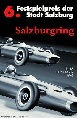 Salzburg Grand Prix 1976 Print by Georgia Fowler