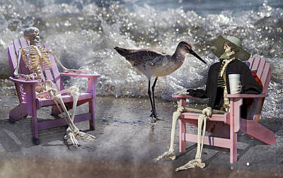 Sandpiper Digital Art - Sam And Friend In Wonderland by Betsy Knapp