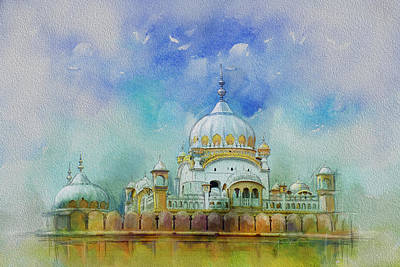 Lahore Painting - Samadhi Ranjeet Singh by Catf