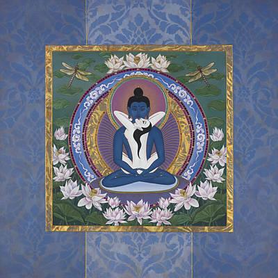 Tibetan Buddhism Painting - Samantabadhra In The Beginning by Nadean OBrien