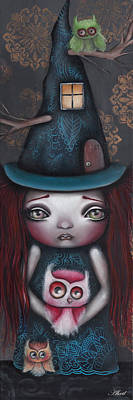 Pop Surrealism Painting - Samantha by  Abril Andrade Griffith