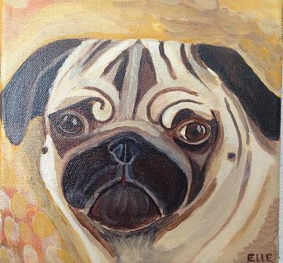 Fawn Pug Painting - Samba by Elle Alves