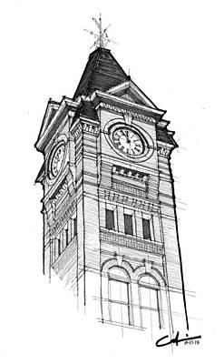 Samford Hall Print by Calvin Durham