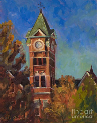 Alabama Painting - Samford Hall by John Albrecht