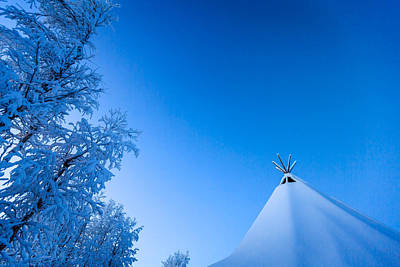 Cold Temperature Photograph - Sami Tent And Trees In Cold Winter by Panoramic Images
