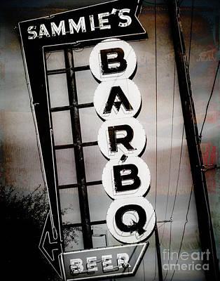 Squint Photograph - Sammie's Bbq by Sonja Quintero