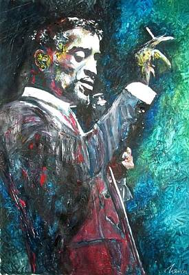 Frank Sinatra Mixed Media - Sammy Davis Jr by Marcelo Neira