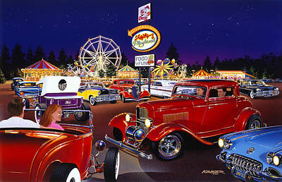 Ford Roadster Photograph - Sammy's Playland by Bruce Kaiser