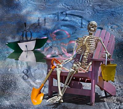 Umbrellas Digital Art - Sam's Clock by Betsy C Knapp