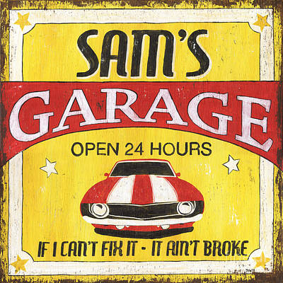 Sam's Garage Print by Debbie DeWitt