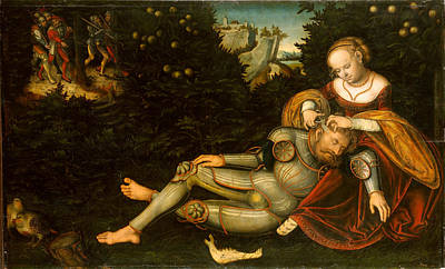 Samson Painting - Samson And Delilah by Lucas Cranach the Younger