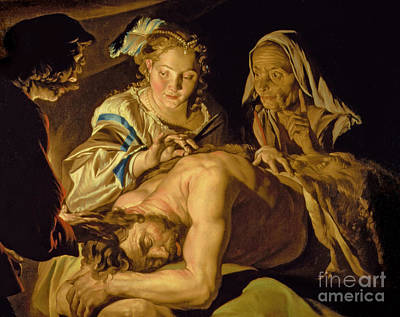 New Testament Painting - Samson And Delilah by Matthias Stomer