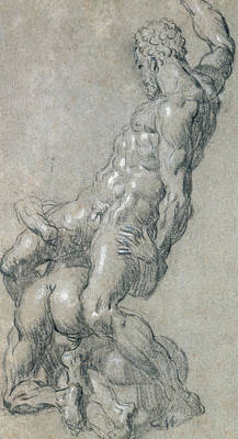 Physique Painting - Samson Killing The Philistines by Jacopo Robusti Tintoretto