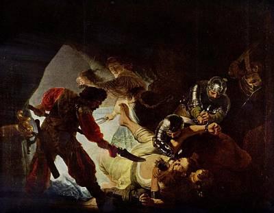 Samson And Delilah Print by Rembrandt