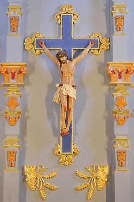 Retablo Photograph - San Antonio - Crucifix Mission San Jose by Christine Till