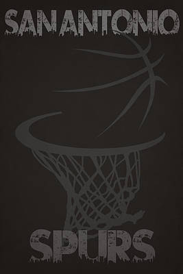 San Antonio Spurs Hoop Print by Joe Hamilton