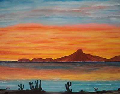 Sonora Painting - San Carlos Bay Mexico by Jorge Cristopulos