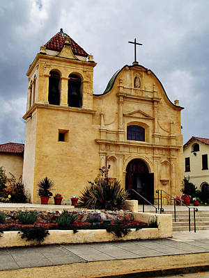 San Carlos Cathedral - Monterey California Print by Glenn McCarthy Art and Photography