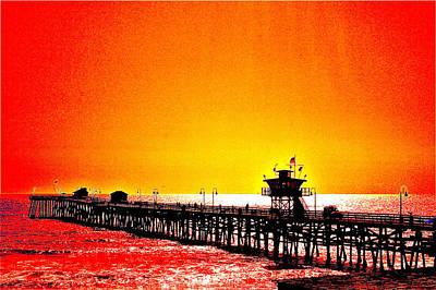 San Clemente Pier 2 Original by Carol Mallillin-Tsiatsios