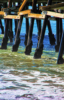 San Clemente Surfing Photograph - San Clemente Pier by Mariola Bitner