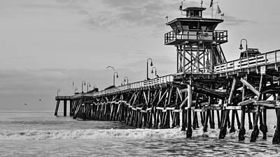 San Clemente Pier Print by Richard Cheski