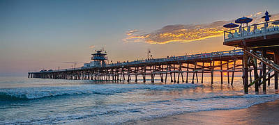 San Clemente Surfing Photograph - There Will Be Another One - San Clemente Pier Sunset by Scott Campbell