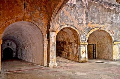 San Cristobal Fort Tunnels Print by Ricardo J Ruiz de Porras